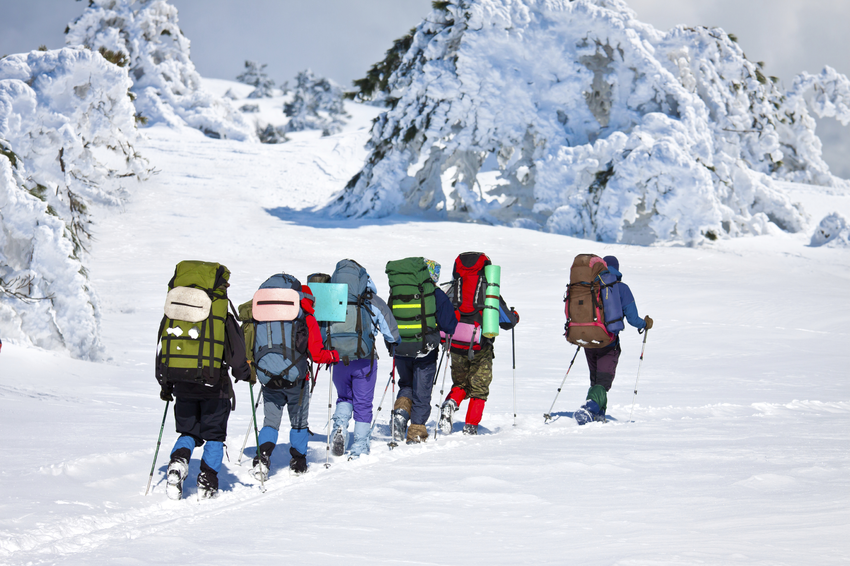 Leading a group up the mountain